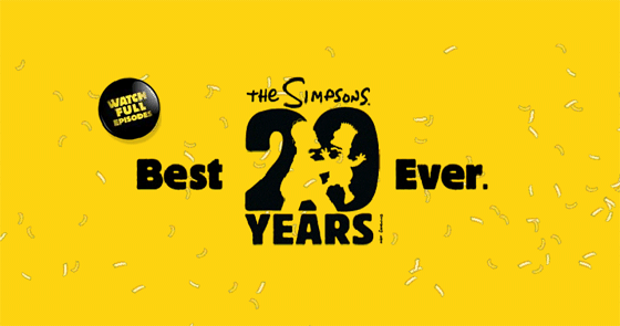 The Simpsons' 20 years celebration Flash Intro